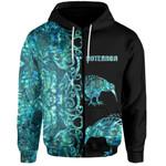 (Custom Personalised)Aotearoa Kiwi Bird Zip-Hoodie Half Papua Shell Style