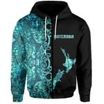 (Custom Personalised)Aotearoa Map Zip-Hoodie Half Papua Shell Style