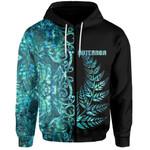 (Custom Personalised)Aotearoa Fern Zip-Hoodie Half Papua Shell Style