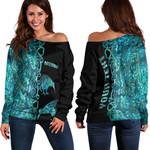 (Custom Personalised)Aotearoa Kiwi Bird Women's Off Shoulder Sweater Half Papua Shell Style