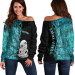 (Custom Personalised)Aotearoa Maori Tiki Women's Off Shoulder Sweater Half Papua Shell Style