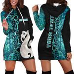 (Custom Personalised)Aotearoa Maori Manaia Hoodie Dress Half Papua Shell Style No.2