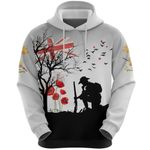 Anzac Day Lest We Forget Hoodie Remembrance The Australian And New Zealand Coat Of Arms K8