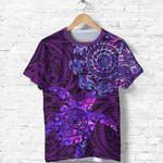Aotearoa Maori T Shirt Turtle Tattoo - Purple K36