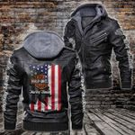 HOODED LEATHER JACKET LIMITED EDITION-10004A