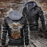 HOODED LEATHER JACKET LIMITED EDITION-10028A