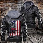 HOODED LEATHER JACKET LIMITED EDITION-10003A