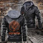 HOODED LEATHER JACKET LIMITED EDITION-10019A