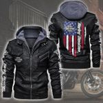 HOODED LEATHER JACKET LIMITED EDITION-7407A