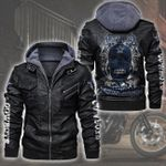 HOODED LEATHER JACKET LIMITED EDITION-7393TH