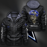 HOODED LEATHER JACKET LIMITED EDITION-9114TH
