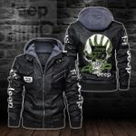 HOODED LEATHER JACKET LIMITED EDITION-5859A