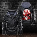 HOODED LEATHER JACKET LIMITED EDITION-5860A