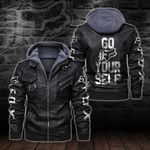 HOODED LEATHER JACKET LIMITED EDITION-5849A