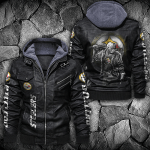 HOODED LEATHER JACKET – LIMITED EDITION-9084TH