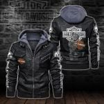 HOODED LEATHER JACKET – LIMITED EDITION-5808A