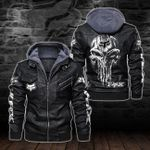 HOODED LEATHER JACKET – LIMITED EDITION-5810A