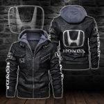 HOODED LEATHER JACKET LIMITED EDITION-8277A