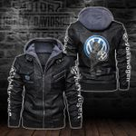 HOODED LEATHER JACKET – LIMITED EDITION-5801A