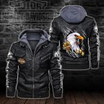 HOODED LEATHER JACKET – LIMITED EDITION-5804A