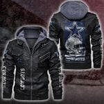 HOODED LEATHER JACKET – LIMITED EDITION – 7343TH