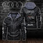 HOODED LEATHER JACKET LIMITED EDITION-8254A