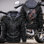 HOODED LEATHER JACKET – LIMITED EDITION-9065TH