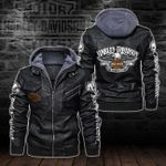 HOODED LEATHER JACKET LIMITED EDITION-5795A