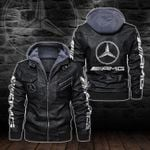 HOODED LEATHER JACKET LIMITED EDITION-5798A