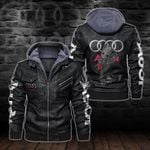 HOODED LEATHER JACKET LIMITED EDITION-5796A