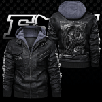 HOODED LEATHER JACKET LIMITED EDITION-9063TH