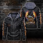HOODED LEATHER JACKET – LIMITED EDITION-5789A