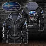 HOODED LEATHER JACKET LIMITED EDITION-8244A