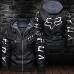 HOODED LEATHER JACKET LIMITED EDITION-6401TR