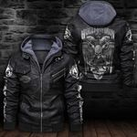 HOODED LEATHER JACKET LIMITED EDITION-7268