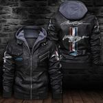 HOODED LEATHER JACKET LIMITED EDITION-7267