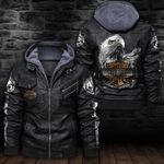 HOODED LEATHER JACKET LIMITED EDITION-7269