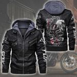 HOODED LEATHER JACKET LIMITED EDITION ZPLT7287TH
