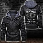 HOODED LEATHER JACKET LIMITED EDITION-7236