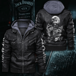 HOODED LEATHER JACKET LIMITED EDITION ZPLT9036TH