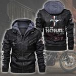 HOODED LEATHER JACKET LIMITED EDITION ZPLT7264TH