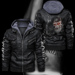 HOODED LEATHER JACKET LIMITED EDITION ZPLT9027TH