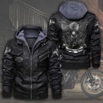HOODED LEATHER JACKET LIMITED EDITION ZPLT7247