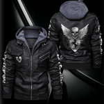 HOODED LEATHER JACKET LIMITED EDITION ZPLT9025TH