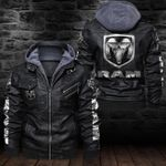 HOODED LEATHER JACKET LIMITED EDITION ZPLT7241