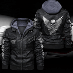 ROLLS ROYCE HOODED LEATHER JACKET LIMITED EDITION ZPLT9021TH
