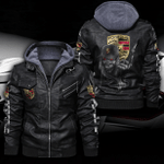 PORSCHE HOODED LEATHER JACKET LIMITED EDITION ZPLT9019TH