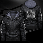 HOODED LEATHER JACKET LIMITED EDITION ZPLT9024TH