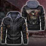 HOODED LEATHER JACKET LIMITED EDITION ZPLT7240TH