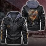 HOODED LEATHER JACKET LIMITED EDITION ZPLT7237TH